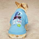 Life's a Dog Beach T-Shirt - Blue