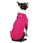 View Image 2 of Casual Canine Lil' Monster Dog Hoodie - Raspberry