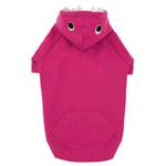 View Image 3 of Casual Canine Lil' Monster Dog Hoodie - Raspberry