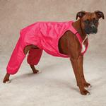 View Image 1 of Casual Canine Nylon Dog Snow Bib - Raspberry