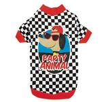 View Image 2 of Party Animal Dog T-Shirt - Checkered