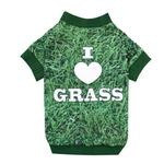 View Image 1 of Photo Real Dog T-Shirt - Grass