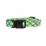 View Image 2 of Casual Canine Pooch Pattern Dog Collar - Blue Argyle