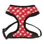 View Image 1 of Casual Canine Skull & Crossbone Harness - Red