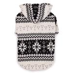 Snowdrift Cuddler Fleece Dog Hoodie - Black
