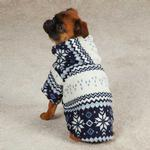 View Image 1 of Snowdrift Cuddler Fleece Dog Hoodie - Blue