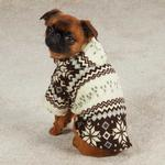 Snowdrift Cuddler Fleece Dog Hoodie - Brown
