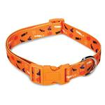 Casual Canine Spooky Dog Collar - Orange