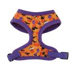 View Image 3 of Casual Canine Spooky Dog Harness - Orange and Purple