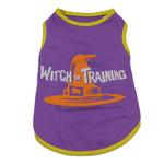 View Image 1 of Casual Canine Witch in Training Dog T-Shirt - Purple