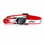 View Image 2 of Casual Kitty Adopt Cat Collar - White and Red