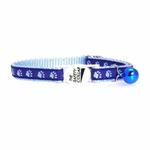 View Image 2 of Casual Kitty Two Tone Pawprint Cat Collar - Blue