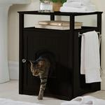 View Image 1 of Cat Washroom and Night Stand - Espresso