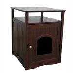 View Image 1 of Cat Washroom and Night Stand - Walnut