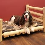 View Image 1 of Cedar Lodge Dog Bed w/ Horizontal Rails