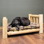 View Image 1 of Cedar Lodge Dog Bed w/ Vertical Rails