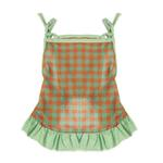 View Image 1 of Checkered Dog Dress by Gooby - Green