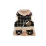 View Image 1 of Checkered Flirt Harness Dress by Pinkaholic - Beige