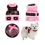 View Image 2 of Checkered Flirt Harness Dress by Pinkaholic - Pink