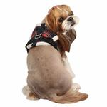 View Image 3 of Checkered Snugfit Dog Harness by Pinkaholic - Navy