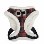 View Image 1 of Checkered Snugfit Dog Harness by Pinkaholic - Navy