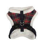 View Image 2 of Checkered Snugfit Dog Harness by Pinkaholic - Navy