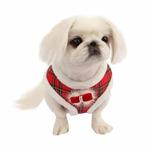 View Image 1 of Checkered Snugfit Dog Harness by Pinkaholic - Red