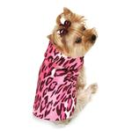 View Image 1 of Cheetah Dog Raincoat - Pink