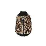 View Image 3 of Cheetah Mink Vest by Hip Doggie - Brown