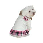 View Image 1 of Chelsea Pink Plaid Dog Dress by Dogo