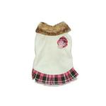 View Image 2 of Chelsea Pink Plaid Dog Dress by Dogo