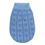View Image 3 of Chenille Cable Knit Dog Sweater - Blue