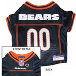 View Image 1 of Chicago Bears Officially Licensed Dog Jersey - Orange Trim