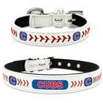 View Image 1 of Chicago Cubs Leather Dog Collar