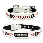 View Image 1 of Chicago White Sox Leather Dog Collar