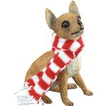 Chihuahua Sitting Christmas Ornament - Tan
