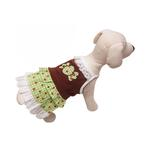 Chocolate Mint Candy Dog Sundress by Klippo