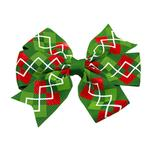 Christmas Argyle Dog Barrette