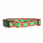 View Image 1 of Christmas Argyle Nylon Dog Collar