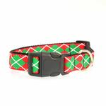 View Image 2 of Christmas Argyle Nylon Dog Collar