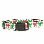View Image 2 of Christmas Bows Nylon Dog Collar