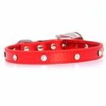 View Image 3 of Christmas Dog Collar with Candy Cane - Metallic Red