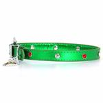 View Image 1 of Christmas Dog Collar with Christmas Tree - Metallic Green