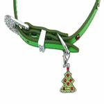 View Image 4 of Christmas Dog Collar with Christmas Tree - Metallic Green