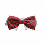 View Image 1 of Christmas Tartan Dog Collar & Bow Tie