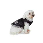 View Image 1 of Classic Chic Dog Jacket by Dogo - Black