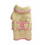 View Image 1 of Classic Manhattan Dog Coat by Dogo - Cream