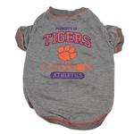 View Image 1 of Clemson Tigers Dog T-Shirt - Gray