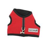 View Image 1 of Cloak & Dawggie Harness Vest with Black Fleece Lining - Red