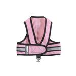 View Image 1 of Cloak & Dawggie Reflective Mesh Step-N-Go Harness - Pink/Black